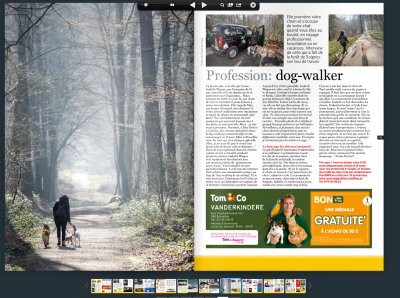 Dog Walking & Cat Sitting dans le Wolvendael , magazine Belge